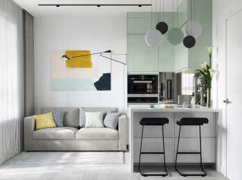 Пример интерьера квартиры-студии